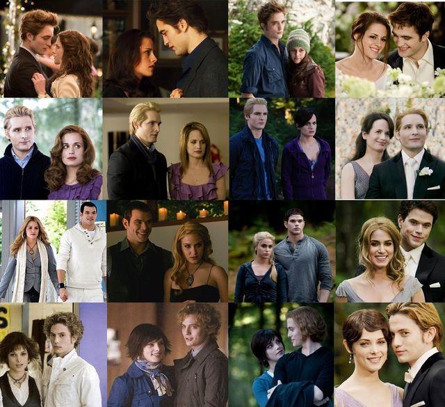 The Cullen Family Collage Thru The Books Twilight Saga Twilight