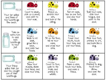 listening ladybugs following directions spring speech activities following directions. Black Bedroom Furniture Sets. Home Design Ideas