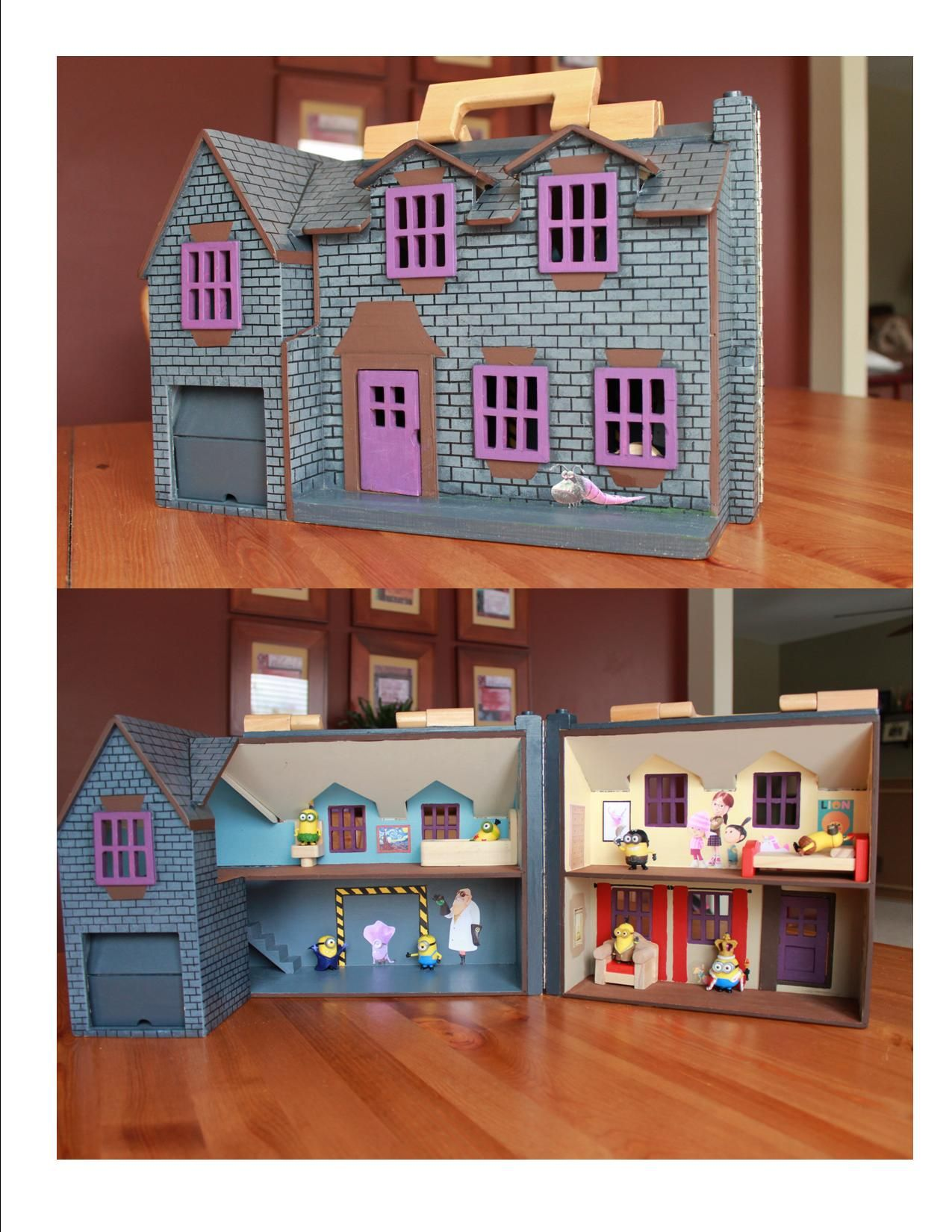 Melissa And Doug Fold And Go Dollhouse Painted To Look Like