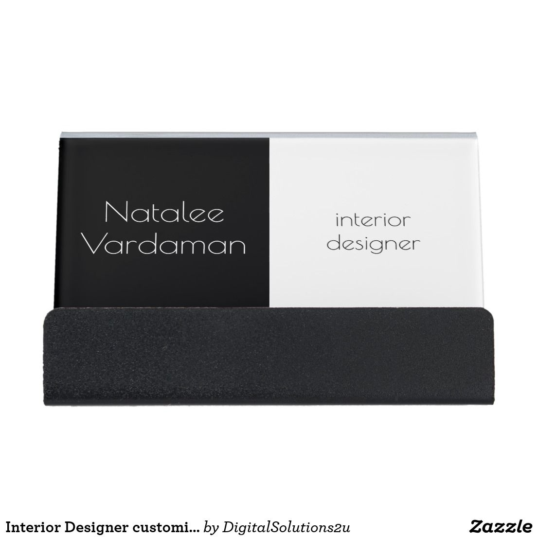 Interior designer customizable simple elegant desk business card shop interior designer customizable simple elegant desk business card holder created by personalize it with photos text or purchase as is reheart Choice Image