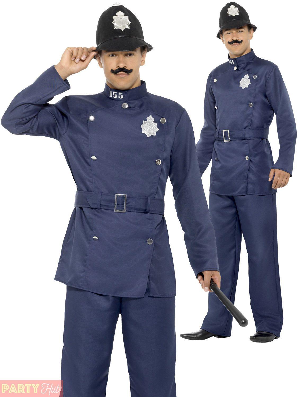 3e8b3fae85 Mens London Bobby Costume Adult Policeman Uniform Fancy Dress Old Fashioned