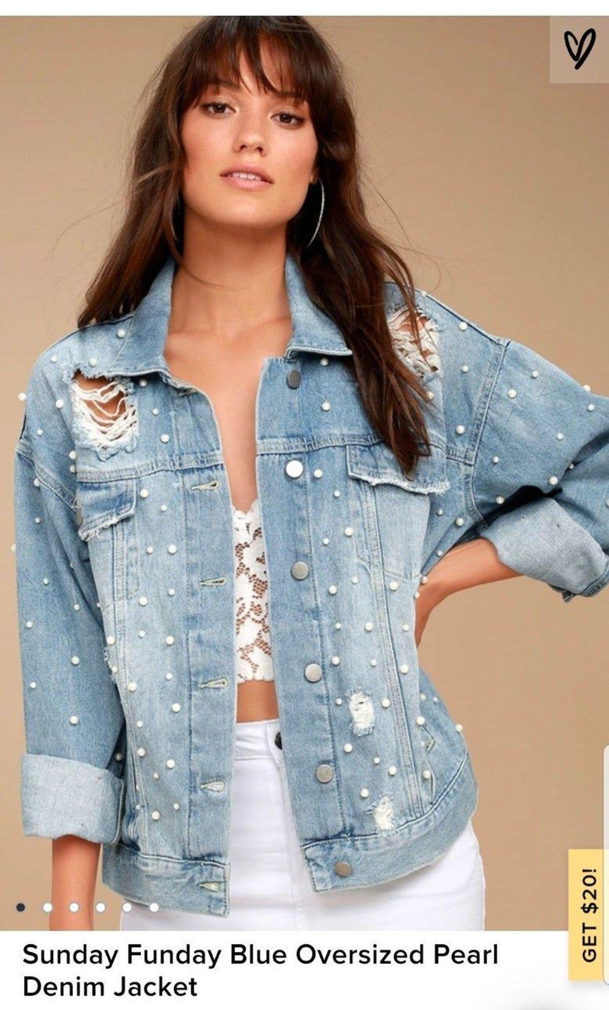 Pin By Nathalia Ramirez On Jean Denim Fashion Embellished Denim Jacket Denim Jacket [ 1990 x 1200 Pixel ]
