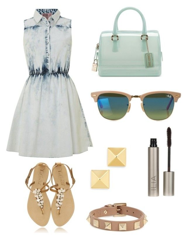 """Clarity - Zedd"" by mcto ❤ liked on Polyvore featuring Neon Rose, Furla, Ray-Ban, Valentino and Ilia"