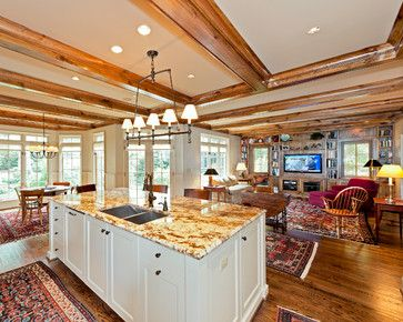 Contractors For Remodeling Home Concept Plans traditional home open concept living room kitchen design, pictures