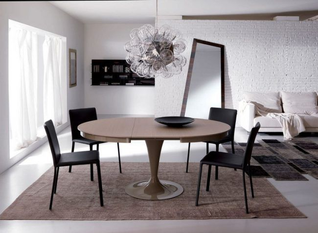 runde esstische als design highlight modern und ausziehbar esszimmer pinterest runder. Black Bedroom Furniture Sets. Home Design Ideas