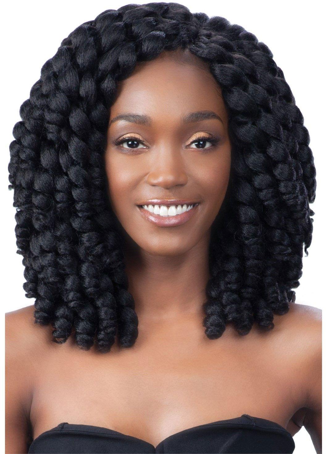 Model Model Glance Braid 2X JUMPY WAND CURL Hair Envy
