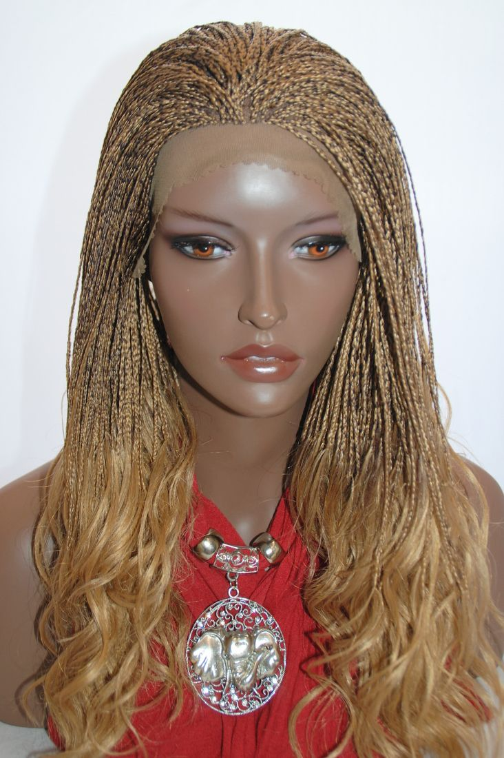 Braided Lace Front Wig Micro Braids Color 27 4 In 17