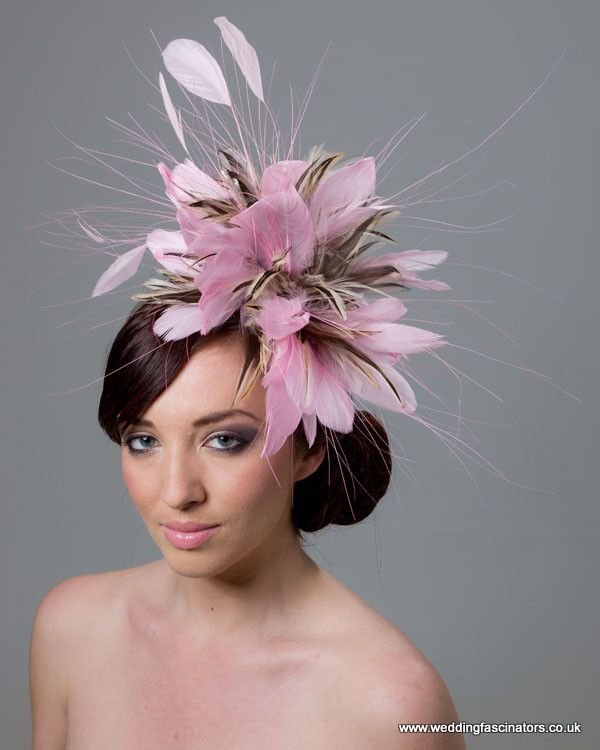 Rose Pink And Natural Fascinator Chelsea Style
