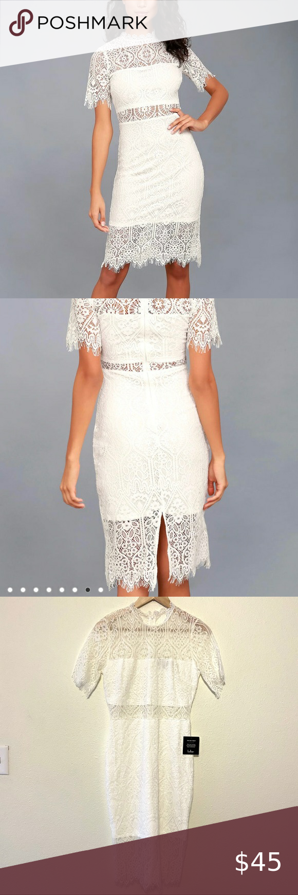 Lulu S Nwt Remarkable White Lace Midi Dress Sheer White Lace Midi Dress Lace Midi Dress Sheer Dress [ 1740 x 580 Pixel ]