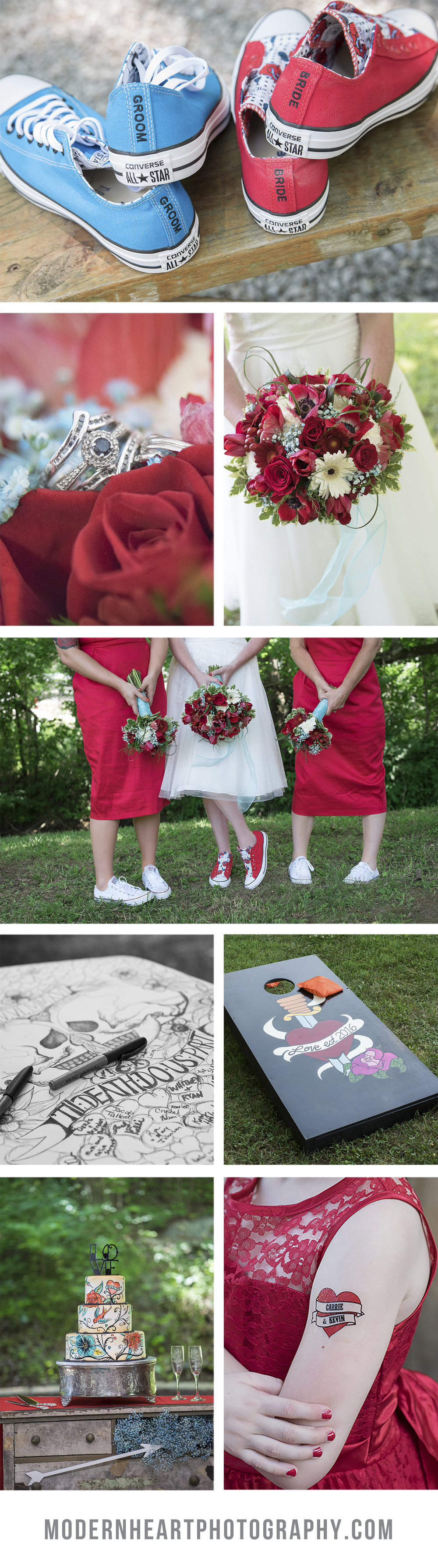 Rockabilly Wedding Inspiration - Red and Blue Wedding Inspiration - Real Wedding Inspiration - by Modern Heart Photography - Tennessee, Virginia, and North Carolina Wedding Photographer #modernheart #modernheartweddings
