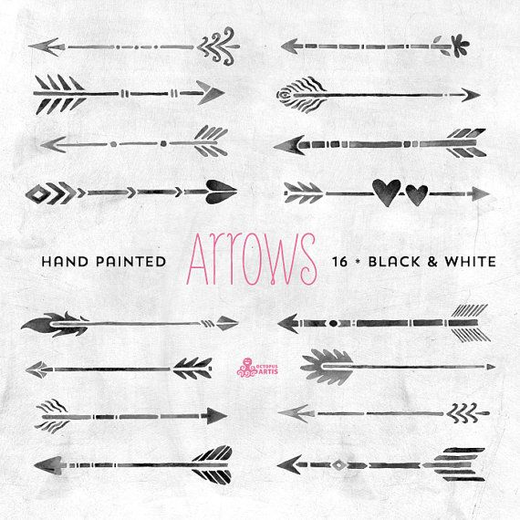 white black arrows clipart tribal native diy elements invitation greetings chalkboard. Black Bedroom Furniture Sets. Home Design Ideas