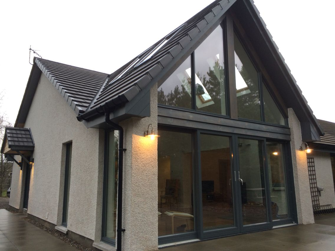 Glazed Gable Extension In Cairngorm National Park