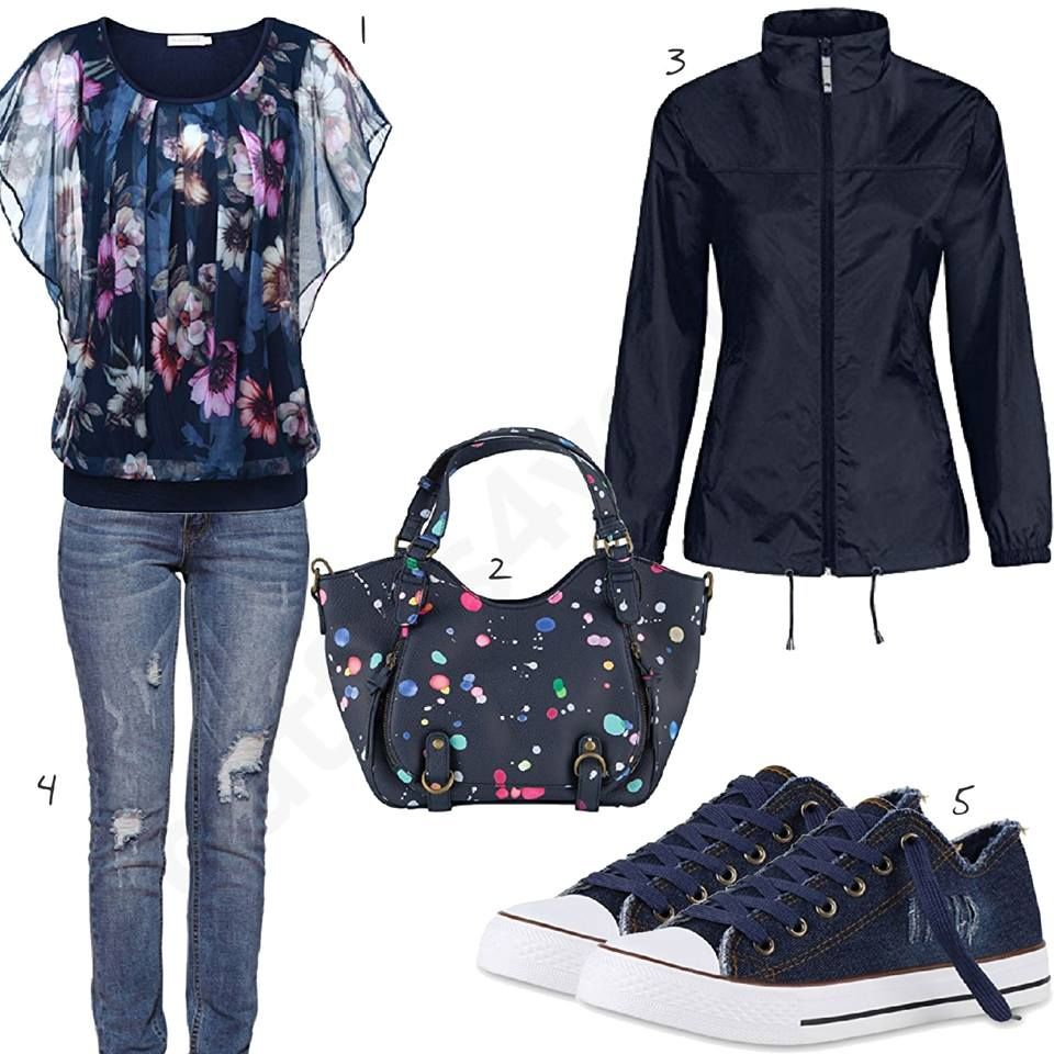 Rosa Damenoutfit mit Shirt, Jacke und Sneakern | My kinda