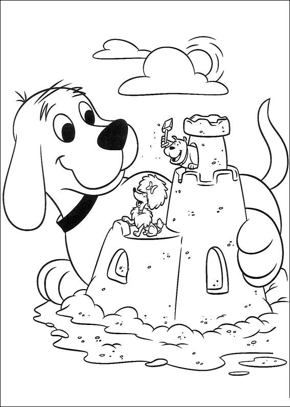 Free Coloring Worksheets Clifford For Kindergarten Dog Coloring
