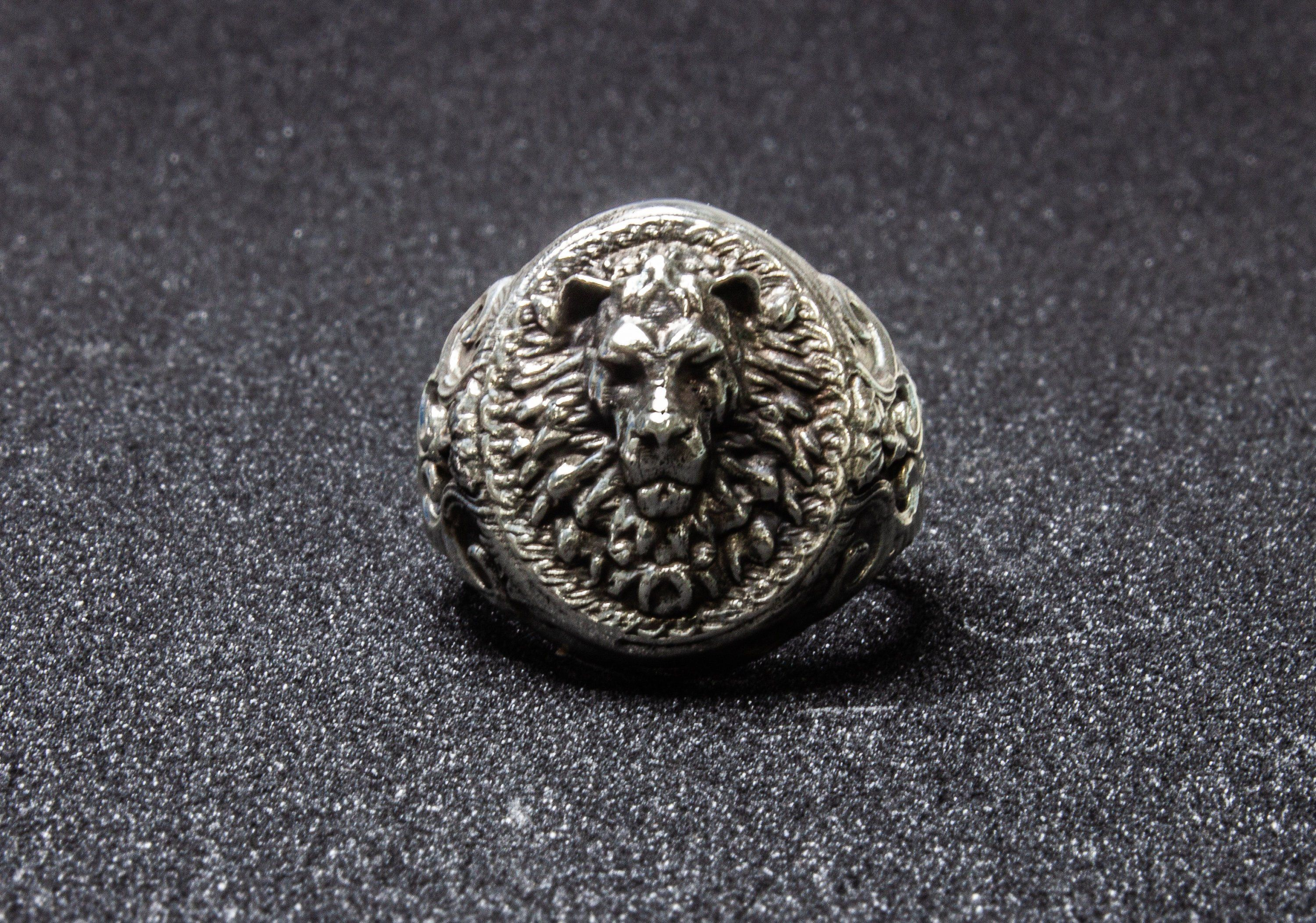 Details about  /Mens Chunky Leo Signet Ring Lion Silver Rings For Man Unique Sterling Gift Him