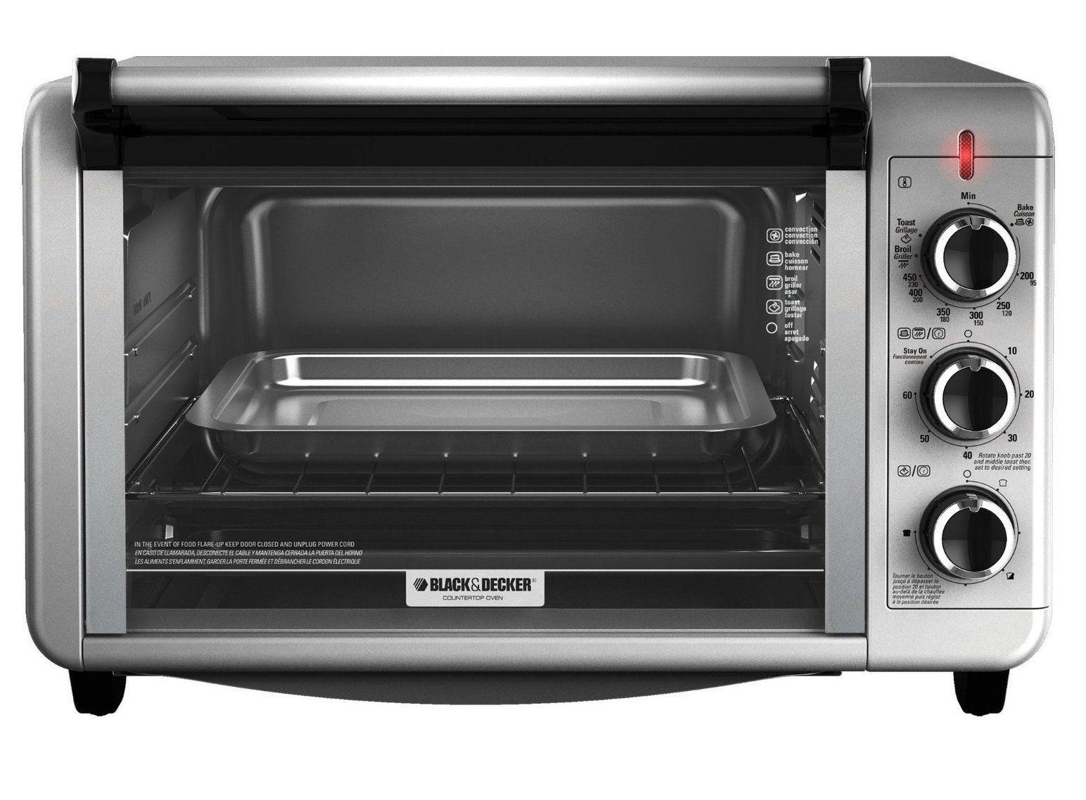 Black Decker To3210ssd Metal Toaster Oven Broiler 6 Slice