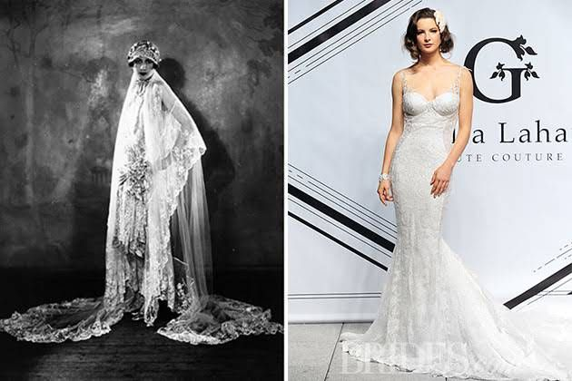 e808274368e7 7 Decades of Wedding Dresses (and How to Wear These Vintage Gowns at Your  Modern Day Wedding)