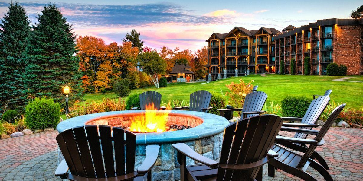 Enter to win lakeside resort lake placid fall road trip