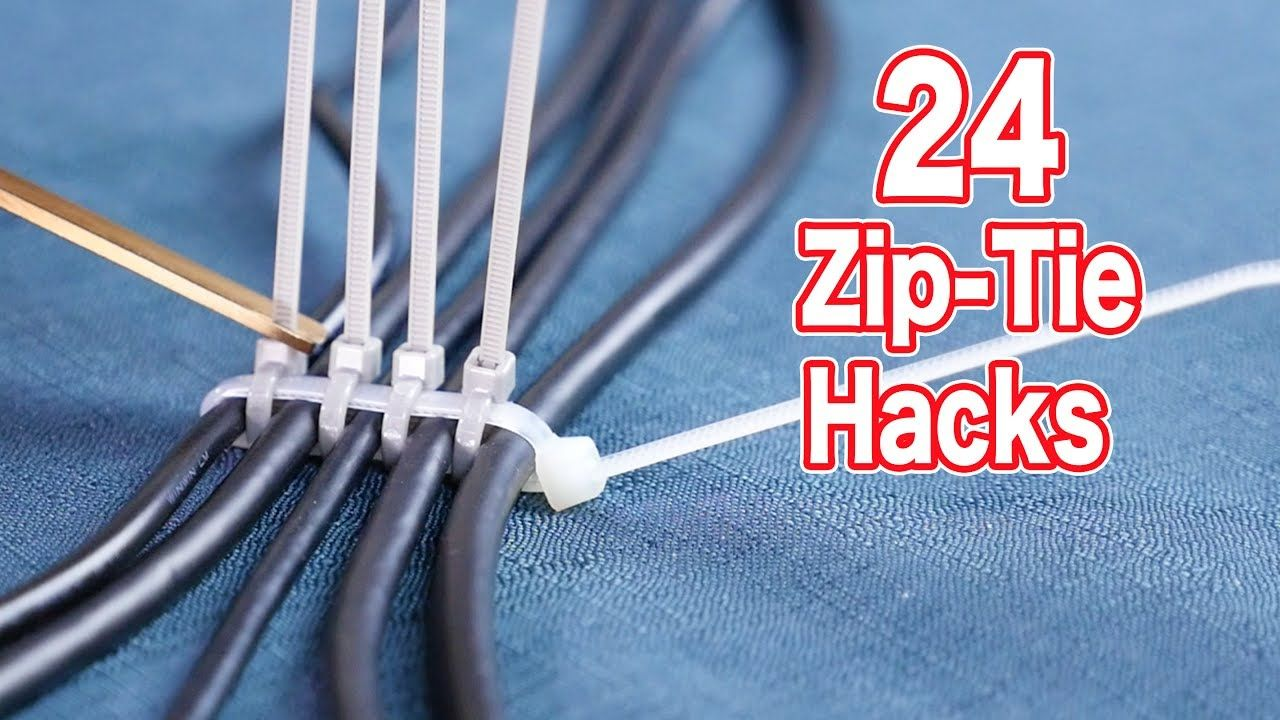 These Clever 24 Zip Tie Home Hacks Make Your Life Easier How To Electrical Wiring