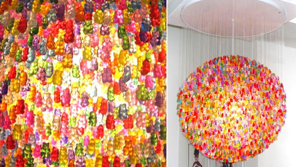 In The Making Of Art With Food Gummy Bears Are Place