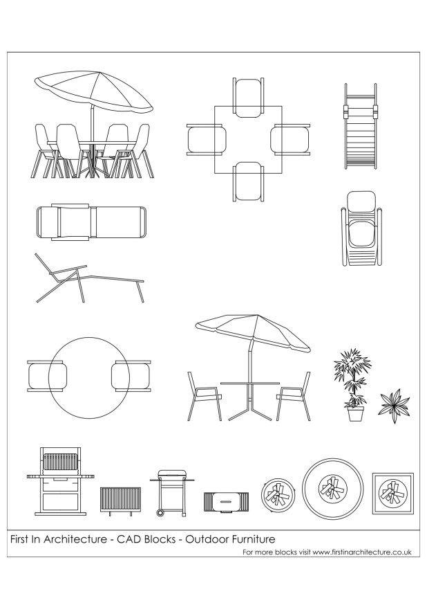 Free CAD Blocks - Outdoor Furniture   source   Pinterest