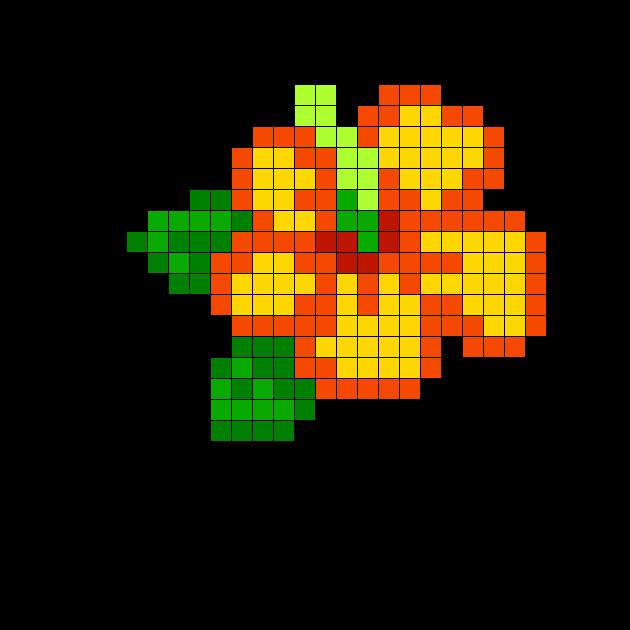 Hibiscus Perler Bead Pattern Bead Sprites Simple Fuse