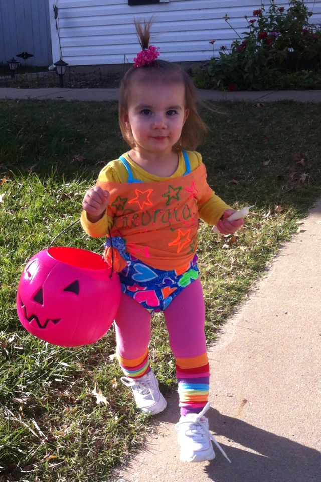 Toddler Halloween Outfit. 80's work out diva! | Toddler ...80s Clothes Kids