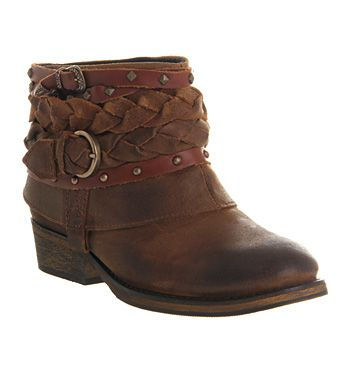 Office Boho Boot Tan Suede - Ankle Boots
