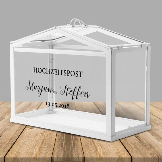Wedding post box/greenhouse personalized for money gifts and cards for wedding