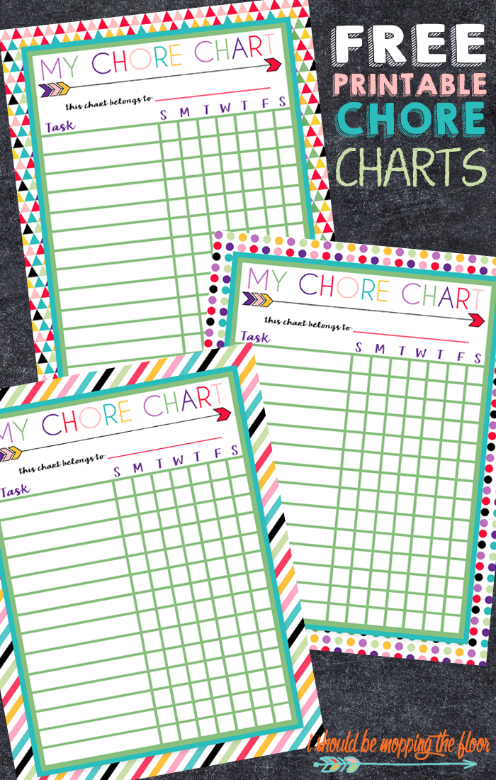 Free Printable Chore Charts Chore Chart Kids Charts For Kids Chores For Kids