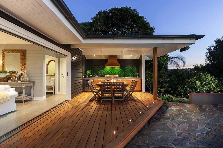 30 Amazing Beach Style Deck Ideas Promoting Relaxation Terraced Backyard Patio Deck Lighting