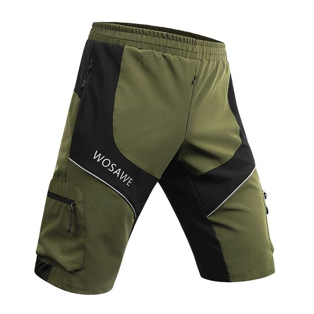 Mens Cycling Shorts MTB Mountain Road Bike Loose Sports Shorts Baggy Bicycle