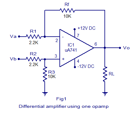 Differential Amplifier Circuit Diagram Differential