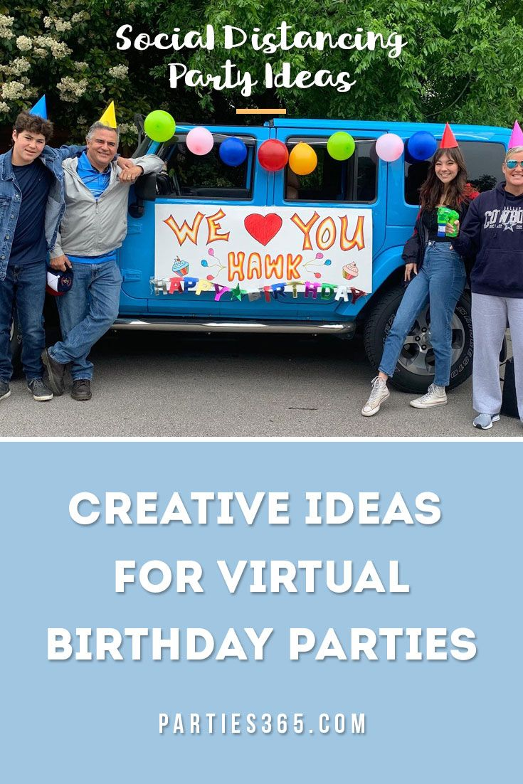 Need creative and fun ideas for a virtual birthday party