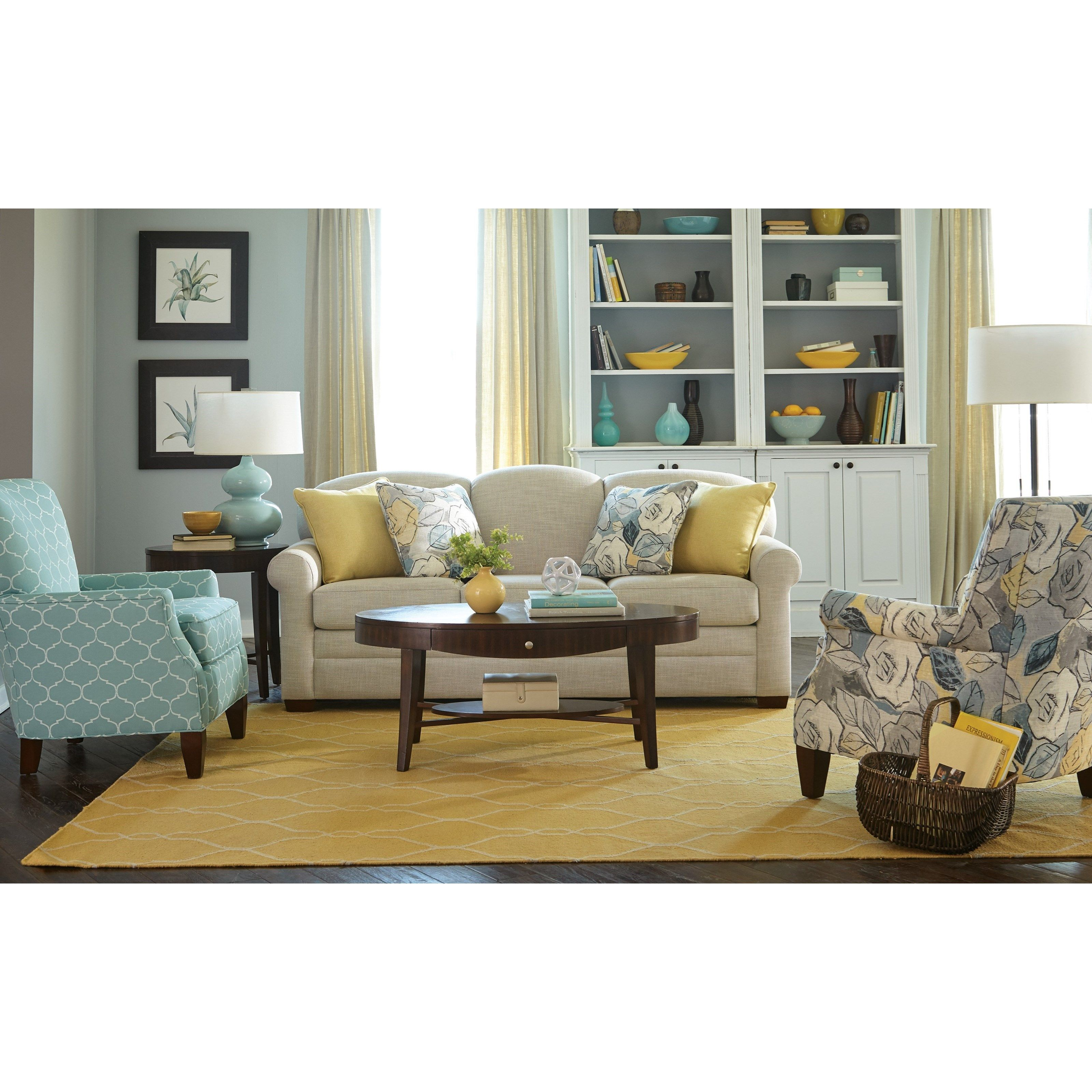 Camelback Sleeper Sofa with Queen Memoryfoam Mattress by