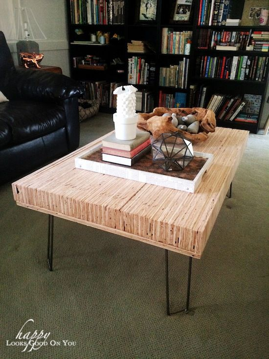 stacked plywood coffee table | Coffee table, Plywood ...