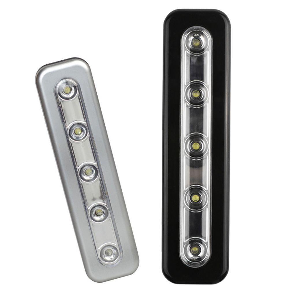 Mini Wireless Wall Light 5 Led Night Closet Lamp Battery Home Lighting For Under Kitchen