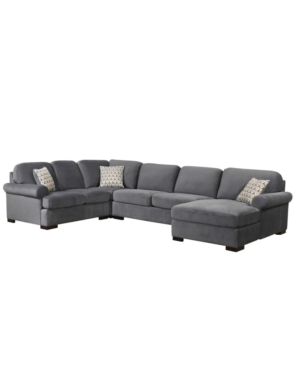 Lawrence 4 Pc Sectional Sofa Grey Sectional Sofa Furniture Sofa