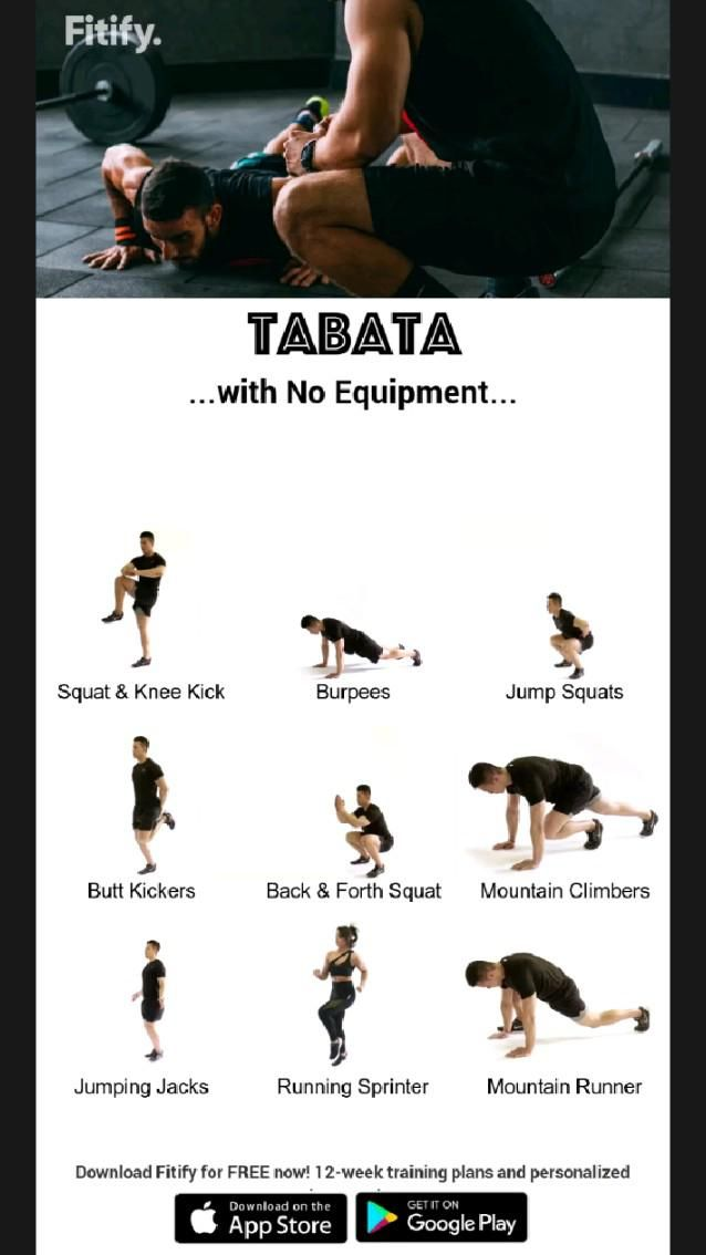 tabata with any equipment #exercise #workout
