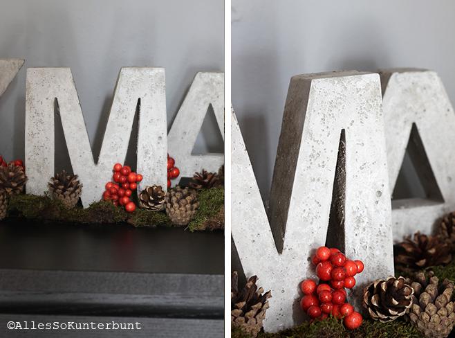 xmas-buchstaben aus beton | selbst gemacht concrete letters | diy, Gartenarbeit ideen