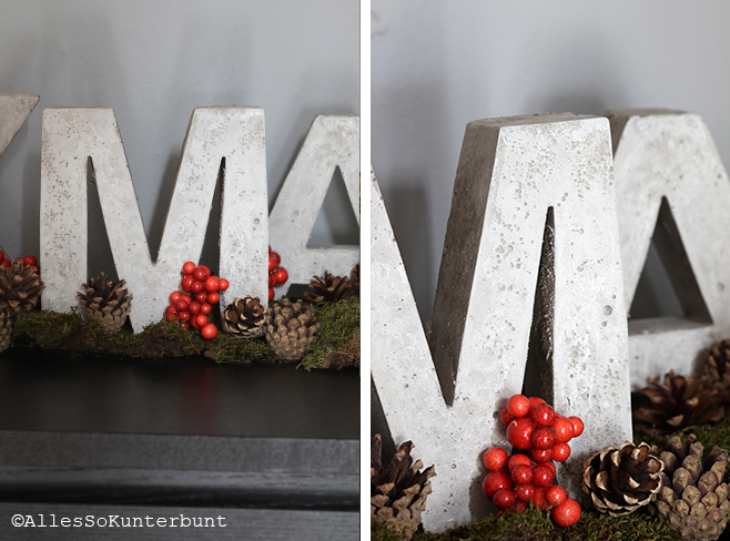 xmas-buchstaben aus beton | selbst gemacht concrete letters | diy, Garten ideen