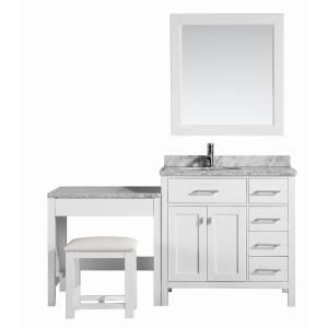 Design Element London 36 In W X 22 In D Vanity In White With