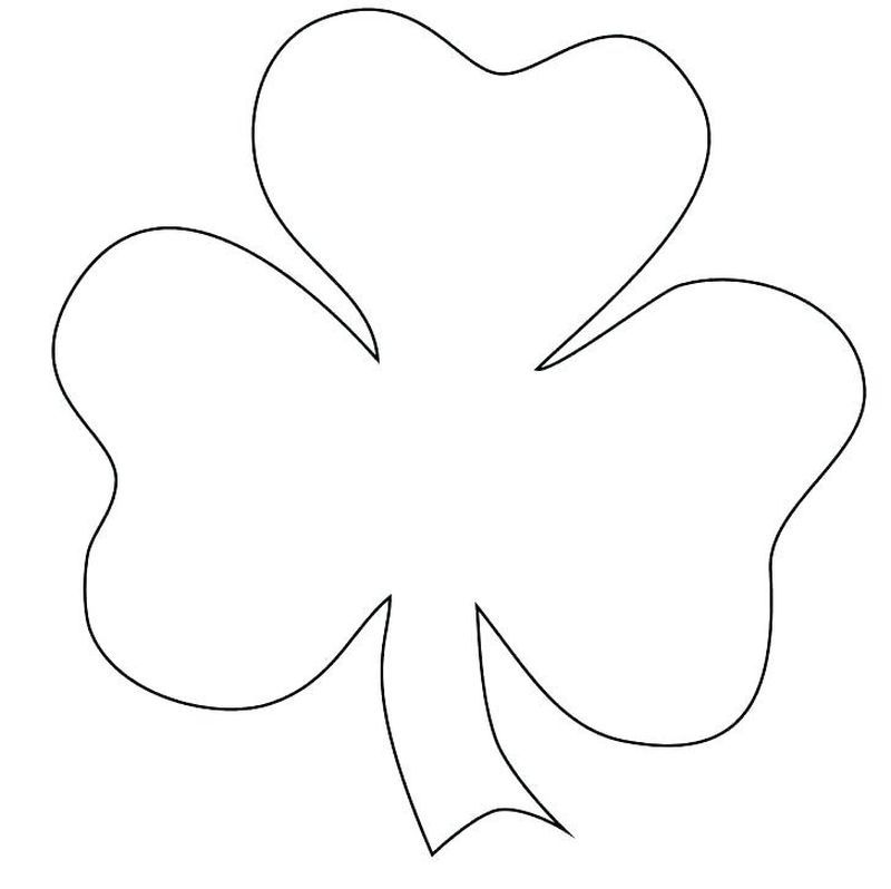 Complete Shamrock Coloring Pages To Print Shamrock Pictures St