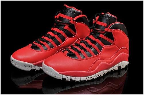 outlet store d5971 a026e Jordan X (10) Red Black White-0294
