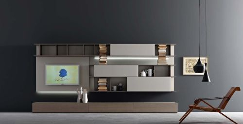 Lampo wall system by Sangiacomo | spaces of interest | Modern wall ...