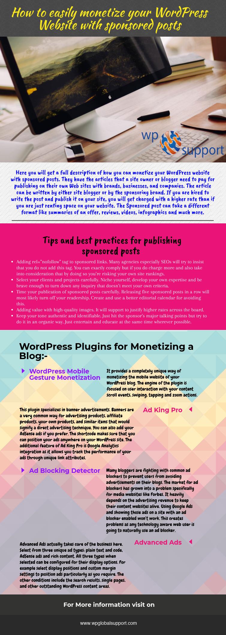 Wordpress blog monetize options