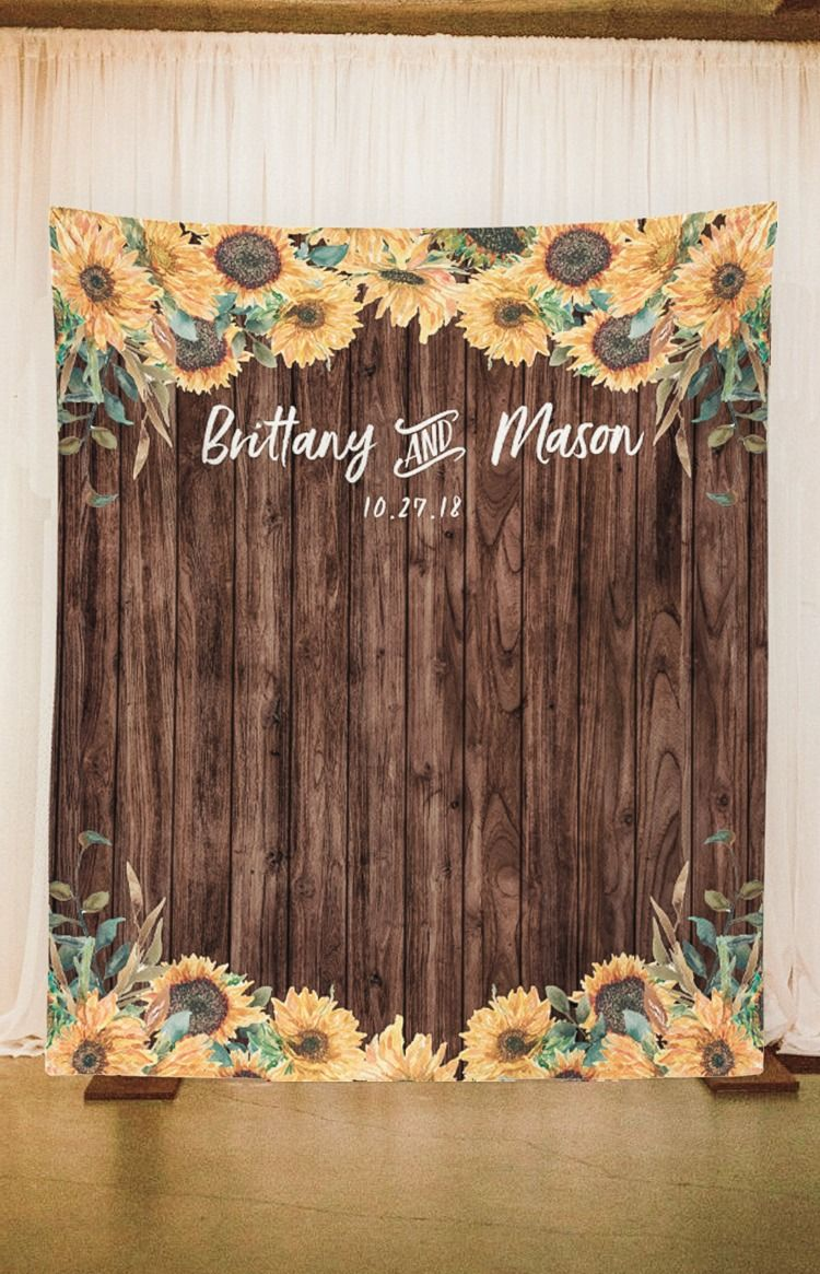 Sunflower Country Wedding Backdrop Decorations | Wood ...