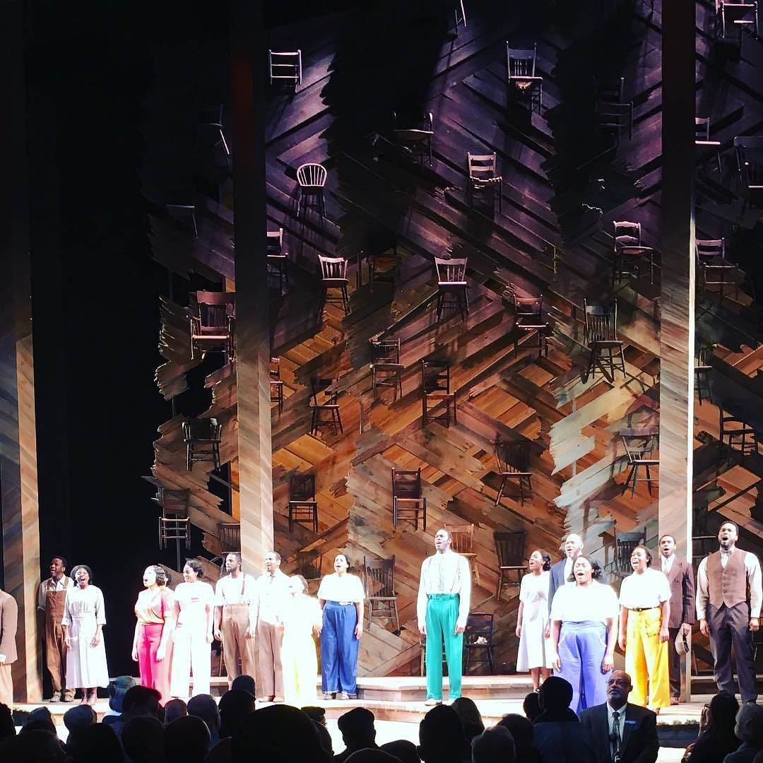 Snapped This Curtain Call Photo Of Bwaycolorpurple Barely