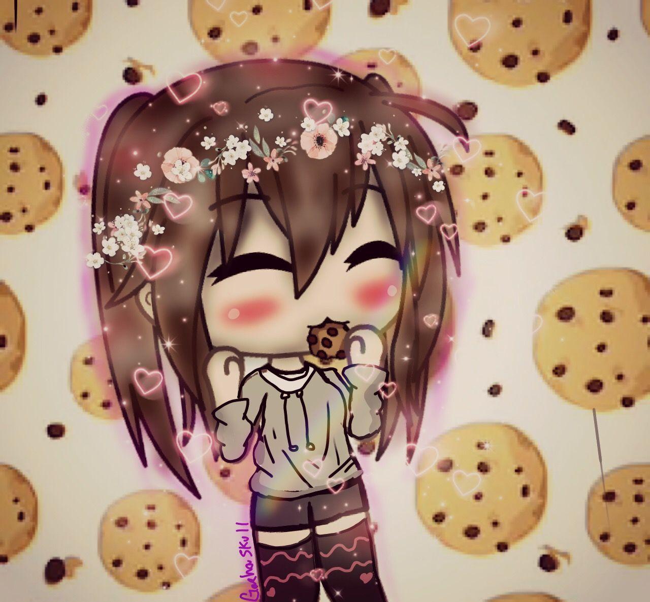 Gacha Life Edit Freetoedit Cookies Cute Anime Chibi Anime Wolf Girl Kawaii Drawings