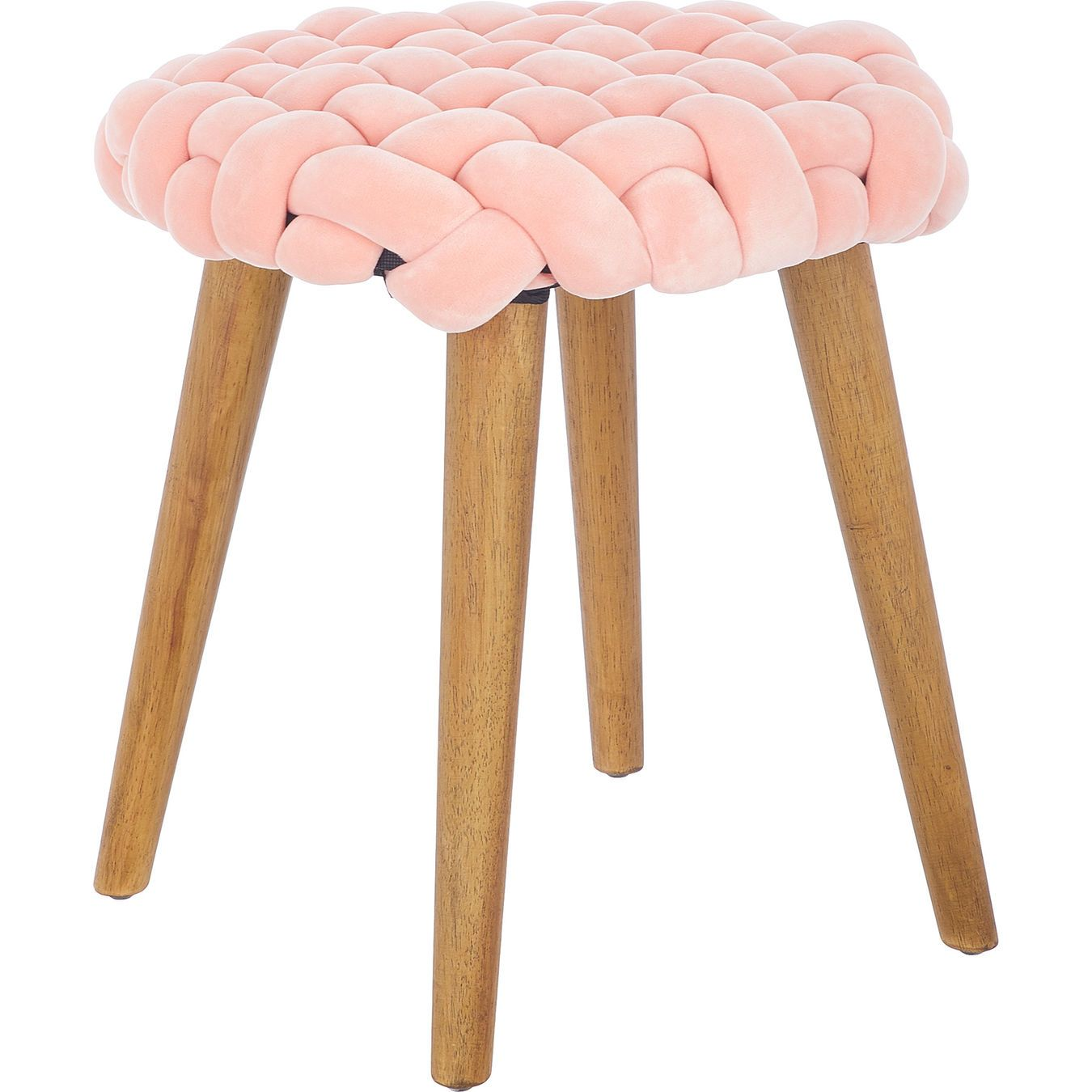 Pink Knotted Stool 39x40cm With Images Ottoman Furniture Home